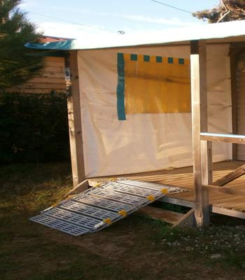 Modular aluminium ramp hire for the disabled and the handicapped