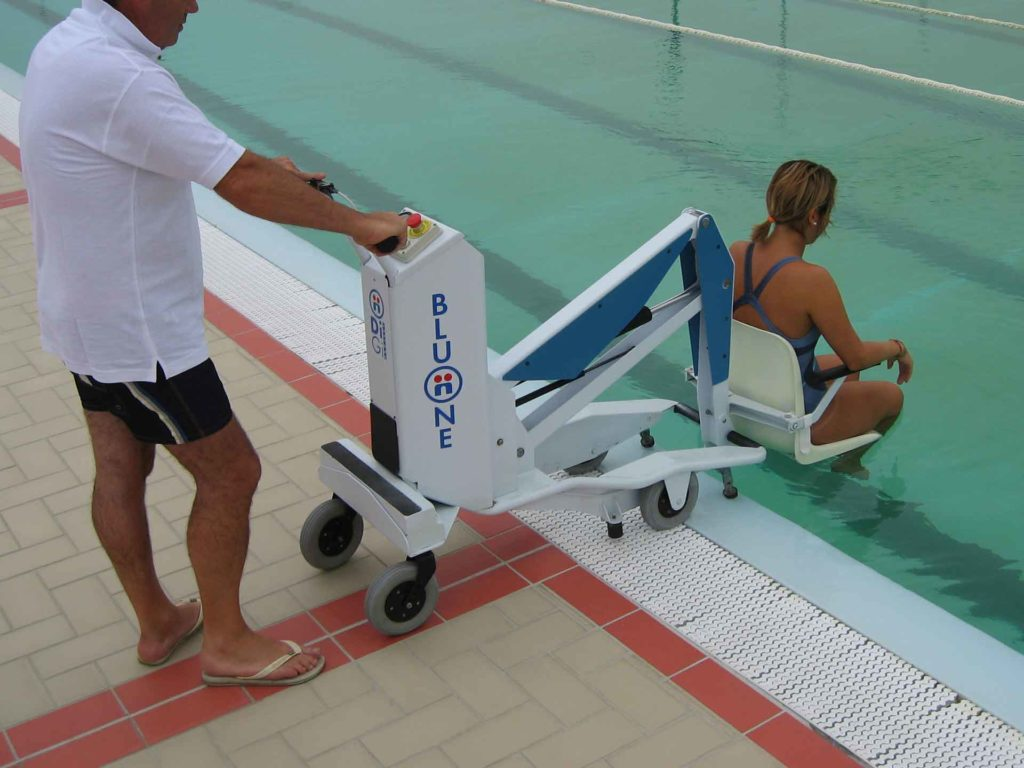 Bluone Pool Lift Hire Swimming Pool Access For The Disabled And Handicapped