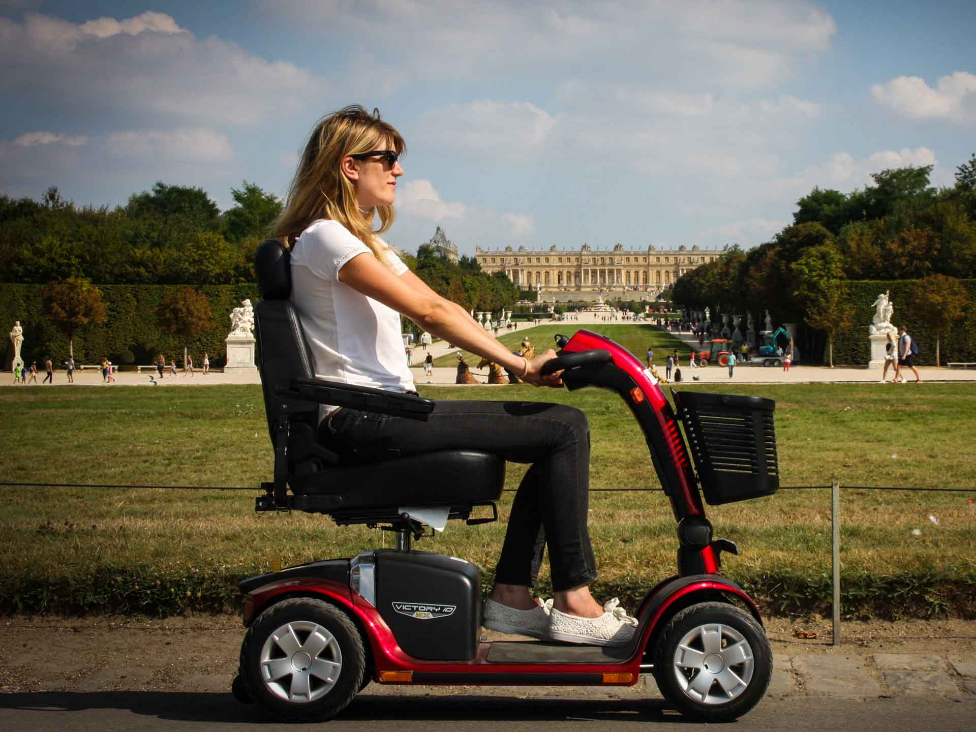 Electric scooter for the disabled, hire for tourism and visiting