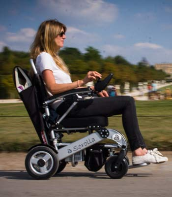 Electric wheelchair hire for the handicapped and disabled