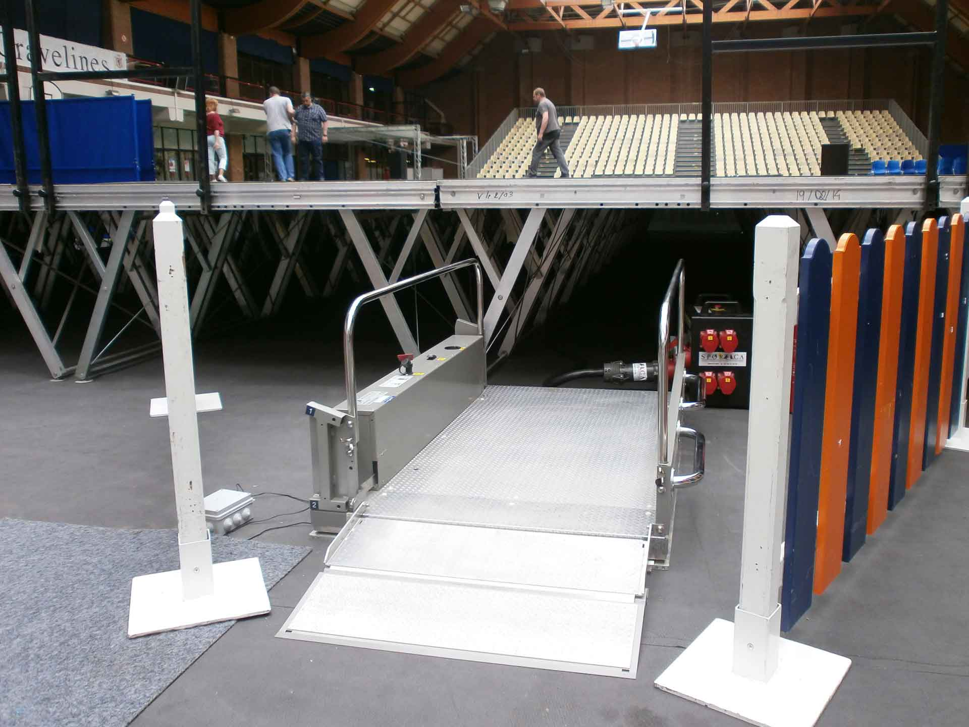 Hire Helios brand electric elevator platforms, for disabled and handicapped access to your events
