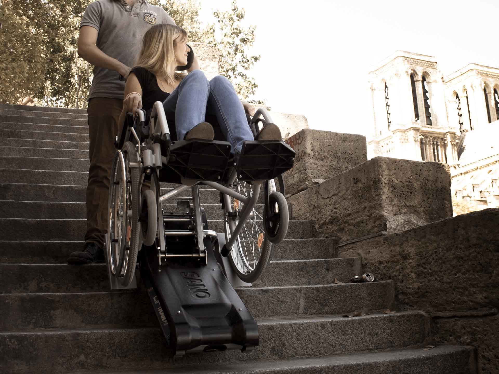 Hire a tracked stair climber for the disabled