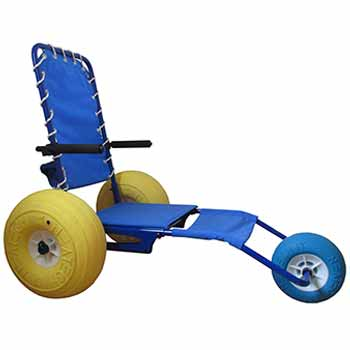 Beach water access chair hire - JOB Beach model - For the disabled and handicapped
