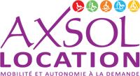 Logo Axsol, société de location de matériel pour handicapés et pmr