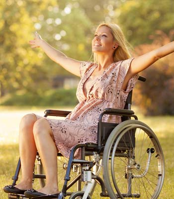 Manual wheelchair hire for the handicapped and disabled