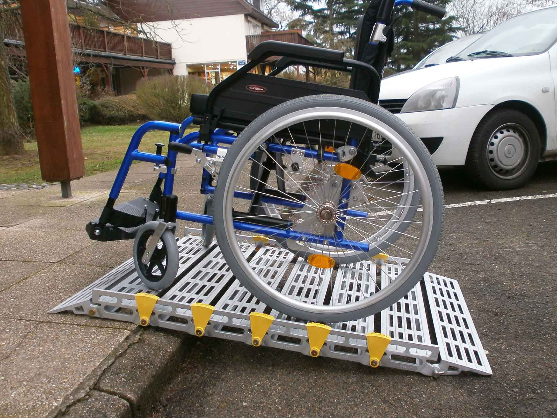 Modular aluminium ramp hire for wheelchairs or scooters - disabled and handicapped