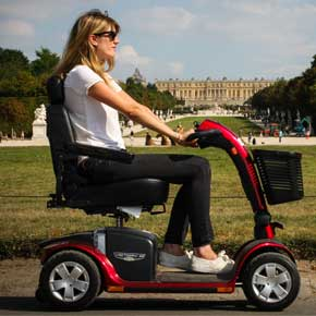 Disabled and handicapped scooter hire, anywhere in France
