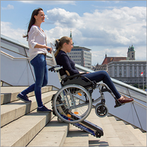 Hire of tracked stair climbers for the movement of the disabled and handicapped