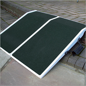 Travel ramp hire for disabled and handicapped wheelchairs or scooters