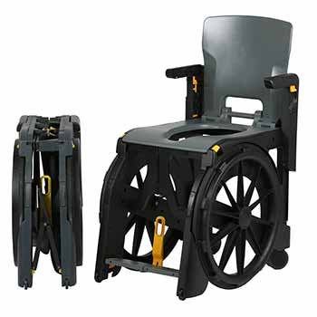 WheelAble plastic folding chair hire, ideal for disabled and handicapped travel
